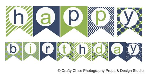 free printable happy birthday banner templates diy blue green happy birthday banner printable