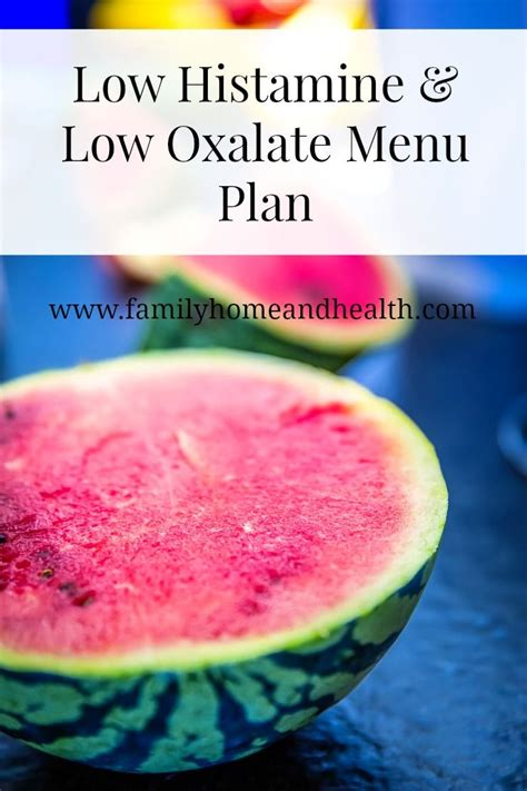 Histamine Detox Symptoms by A Menu Plan For A Low Histamine Low Oxalate Liver