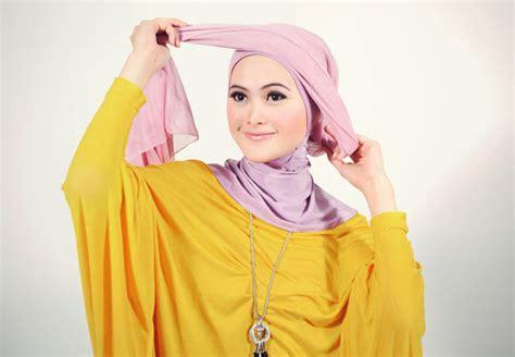 tutorial gambar jilbab turban turban style dengan jilbab segiempat tutorial hijab