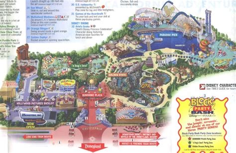 disney california adventure map theme park brochures disney s california adventure theme park brochures