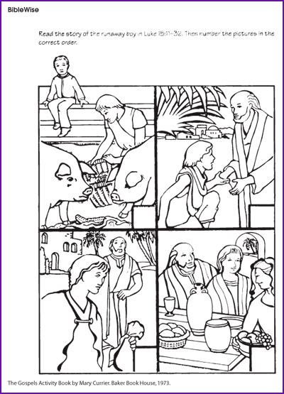 coloring page for the prodigal son the prodigal son puzzle kids korner biblewise