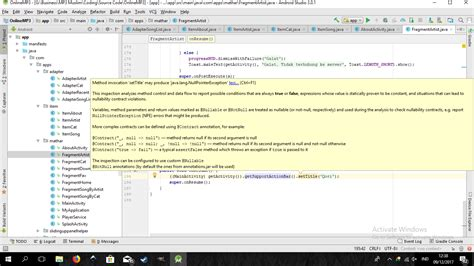 Android Layout Java Lang Nullpointerexception | android method invocation settitle may produce java