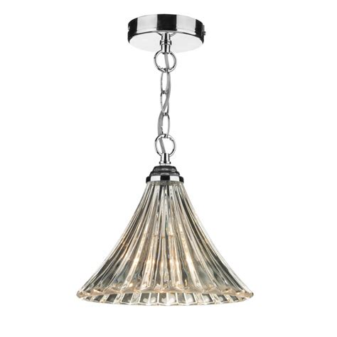 Single Pendant Lights Ardeche Fluted Glass Single Ceiling Pendant Light