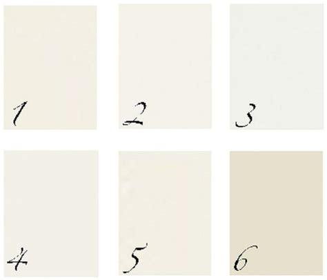 BM1. Ivory White 2. White Dove 3. Decorator?s White 4