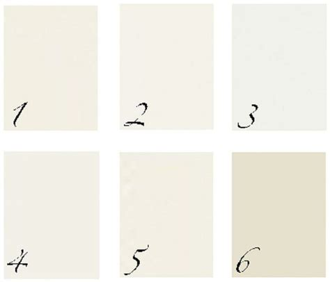 BM1. Ivory White 2. White Dove 3. Decorator?s White 4