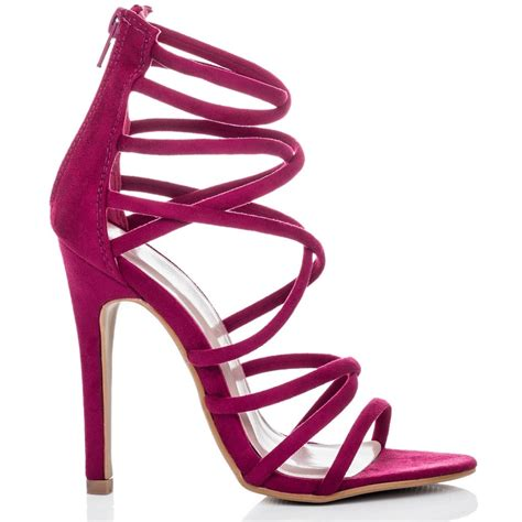 pink high heel sandals uzi pink sandals shoes from spylovebuy