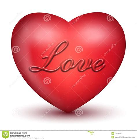3d love heart 3d love heart royalty free stock images image 15926259