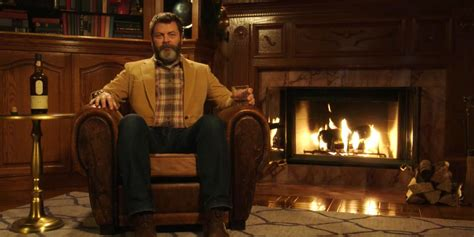 nick offerman drinking whiskey just 45 straight minutes of nick offerman quietly drinking