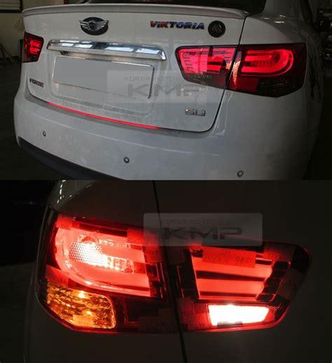 kia forte brake light bmw f style rear led red tail light l set for kia 2010