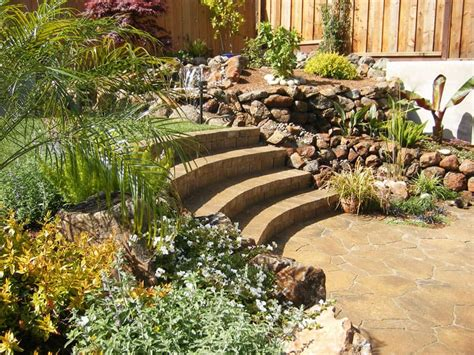 Terraced Patio Designs How To Turn A Steep Backyard Into A Terraced Garden