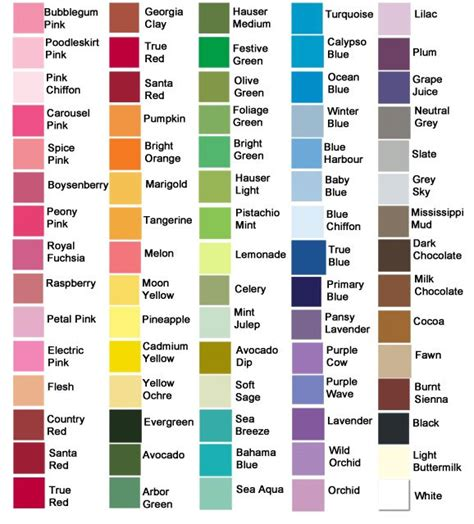 12 all colors paint colors home paint colors and