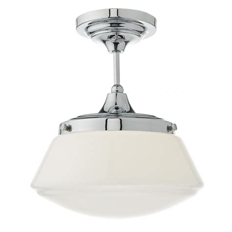 Ceiling Light Sale Uk Caden Semi Flush Polished Chrome And Opal Lighting And Lights Uk