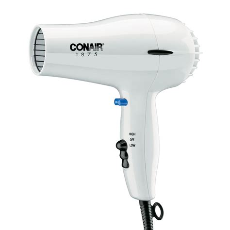Hair Dryer Cool Vs conair hospitality 247w compact hair dryer w cool button 2 heat speed settings white