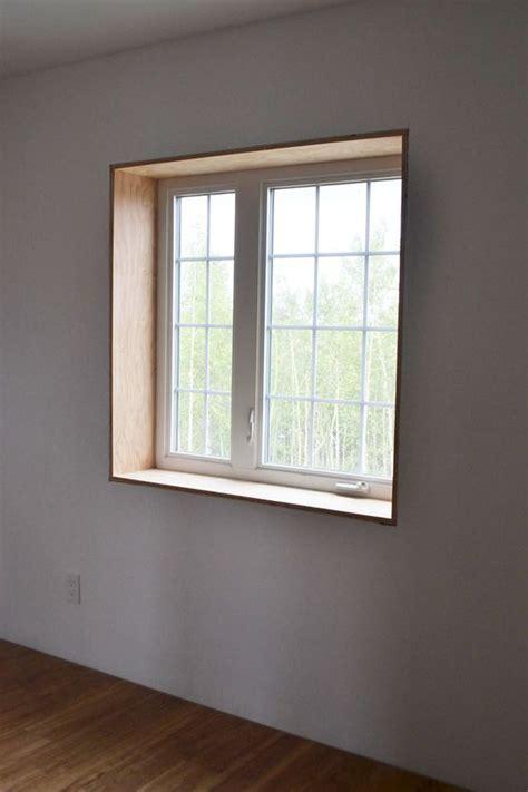 diy windows interior white build a easy window trim free and easy diy