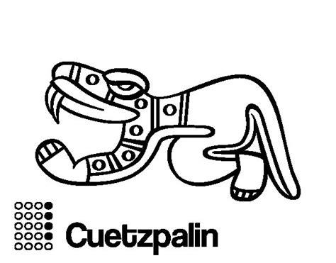 imagenes de penachos aztecas para colorear dibujo de los d 237 as aztecas el lagarto cuetzpalin para