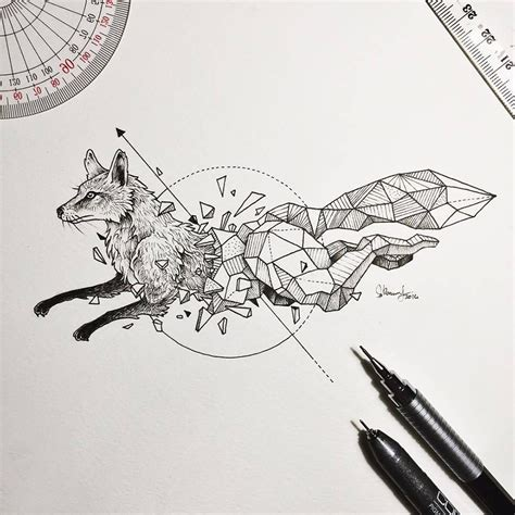 desenho geometricos intricate drawings of animals fused with geometric