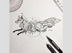 Intricate Drawings Of Wild Animals Fused With Geometric ... Geometric Animal Art