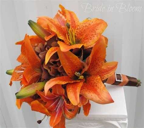 Bouquet Tiger tiger wedding bouquet silk bridal bouquet in bloom