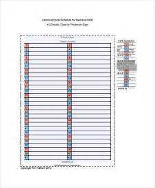 Siemens Panel Schedule Template by Sle Panel Schedule Templates 6 Free Documents
