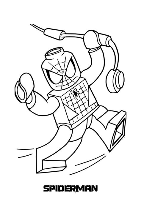 lego coloring pages printable top 20 spiderman coloring pages printable