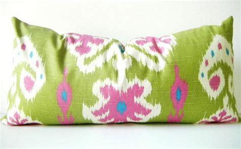 long bolster pillow and throw bed set blue by djsdraperies lime green pillow cover long green pillow hot pink