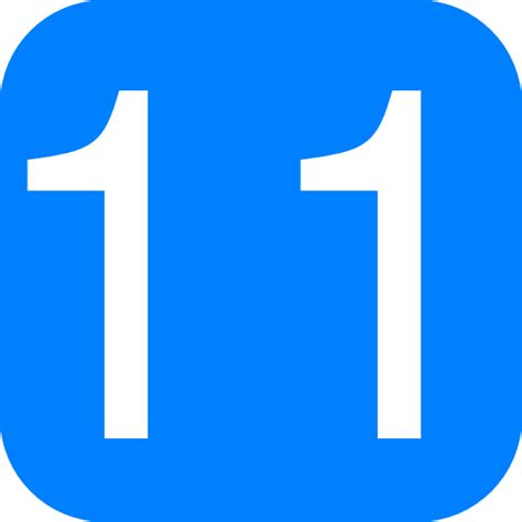 blue rounded square with number 11 clip art at clker com