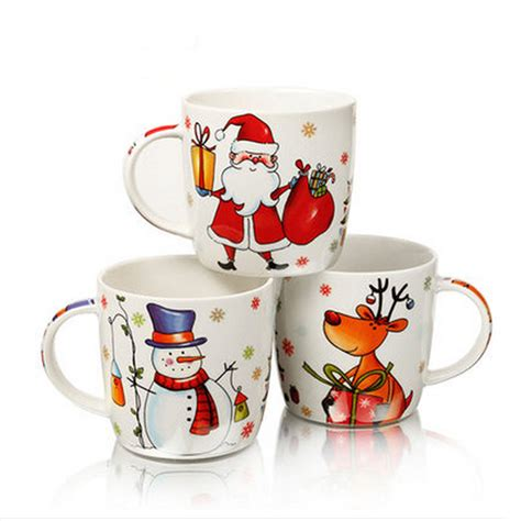 best ceramic mugs 2015 top grade ceramic christmas mugs 400ml santa claus