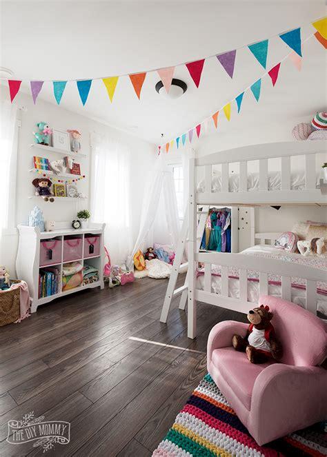 modern rainbow toddler bedroom makeover reveal