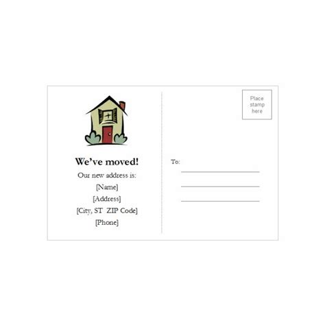 change of address word template microsoft word postcard template downloads