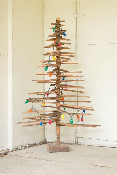 arbol de navidad casero 225 rboles de navidad caseros 42 ideas con madera r 250 stica
