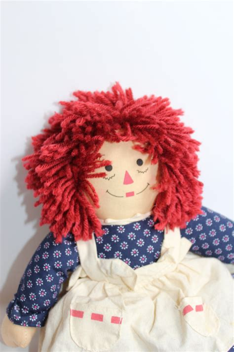 rag doll with hair hair rag doll vintage rag doll gift for baby doll