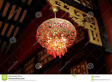 china with lights chinese red lantern ceiling light indoor l stock photo