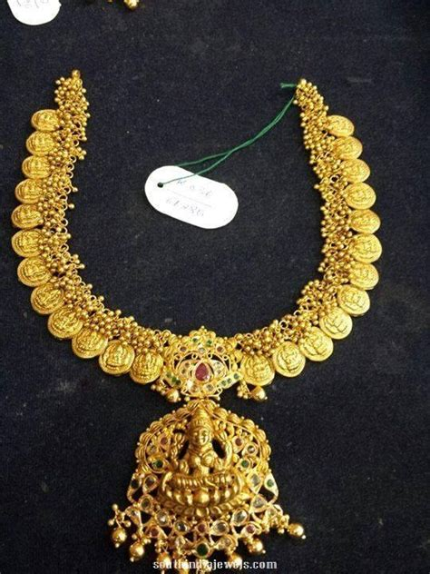 1 gram silver coin price in chennai 60 grams gold lakshmi coin necklace south india jewels