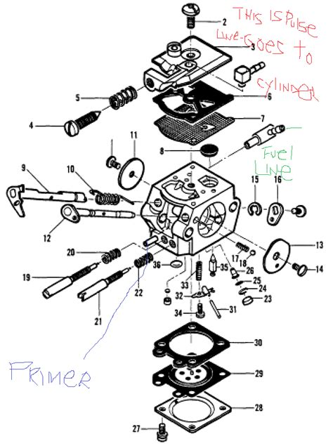 walbro carb diagram homelite chainsaw carburetor diagram walbro wyc carburetor