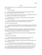 Second Amendment To The Constitution Essay by Sentence Outline For Essays Mla Handbook For Writers Of Research Papers 7th Ed 2009 Source Diana