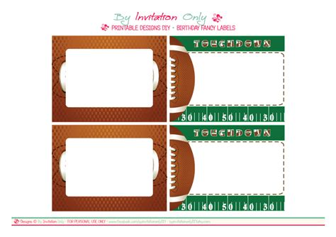 Free Football Template Printable 8 Best Images Of Football Ticket Templates Blank Printable