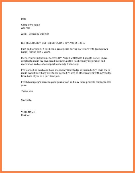 termination letter format with one month notice 8 2 months notice resignation letter basic