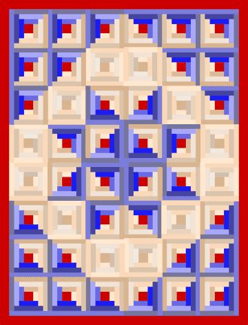 How To Make A Log Cabin Quilt Block by Log Cabin Quilt Block Patterns 2000 Free Patterns