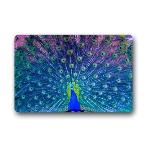 Peacock Bathroom Rug Pretty Peacock Inspired Bathroom Adds So Much Color To Your Home