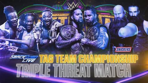 vs set vs match smackdown tag team title match set for wrestlemania 34