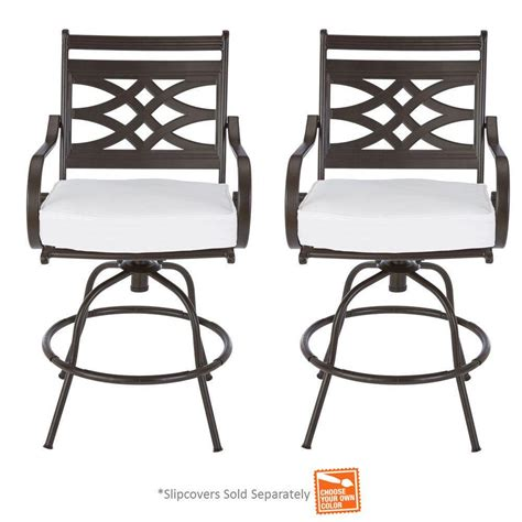 Motion Patio Chairs Hton Bay Middletown Patio Motion Balcony Chairs With Cushion Insert 2 Pack Slipcovers Sold