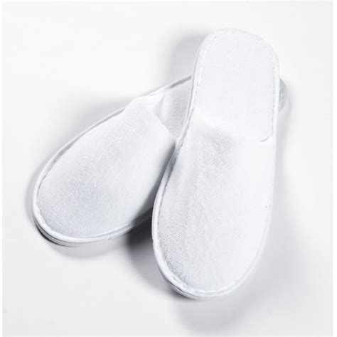 slippers white company white closed toe terry slippers for hotels spas