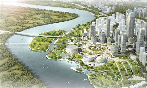 Riverfront Home Plans by Master Plan Revealed For Binhai Eco City In Tianjin