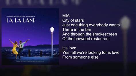 song 2 testo la la land city of duet lyrics