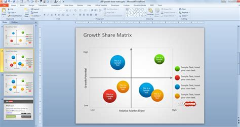 powerpoint matrix template free growth matrix template for powerpoint free
