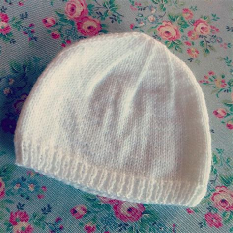 baby beanie pattern knit 2 hour baby hat needles hats and mittens and
