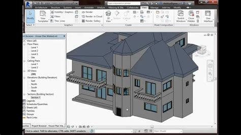 3d Architectural Floor Plans by Autodesk Revit 2015 House Plan Youtube