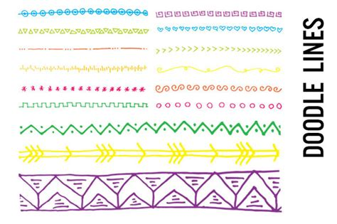 doodle line borders for maths projects 187 designtube creative design