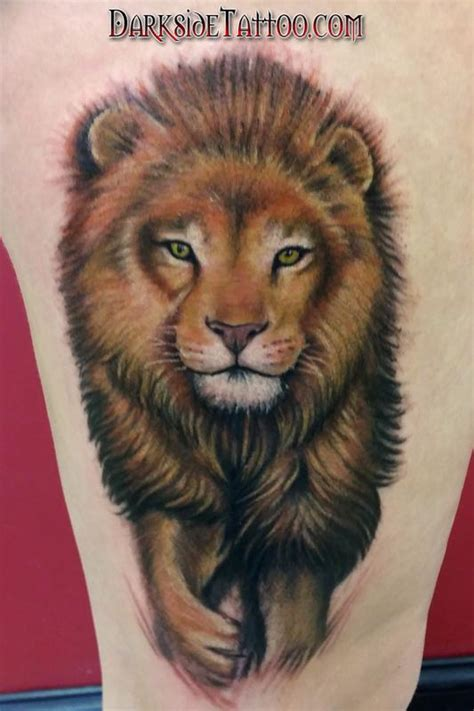 color lion tattoo color by dave racci tattoonow
