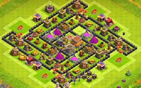 coc layout th8 anti loot clash of clans th8 trophy base with bomb tower cocbases
